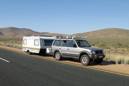 Pajero and Sprite on the road