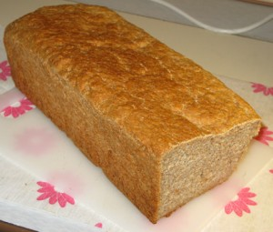 Delicious home baked brown bread.