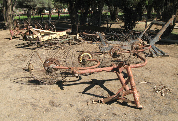 Old and rusting farm equipment