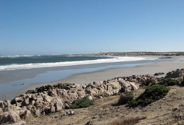 The bay to the north of Port Nolloth.