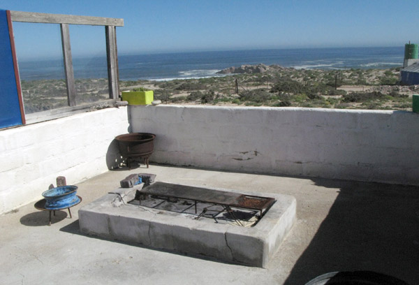The lapa type braai area with the sea as your backdrop.