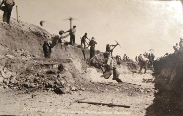 Early pick and shovel mining.