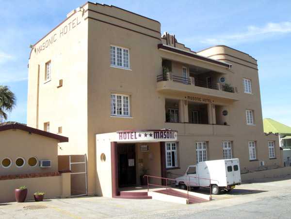 The Masonic Hotel.