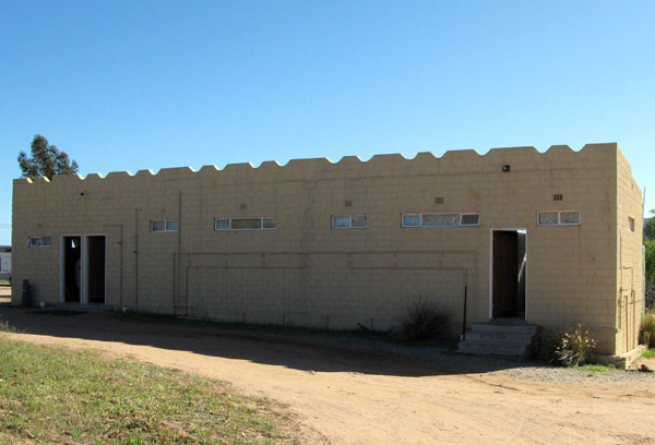 The ablution block.