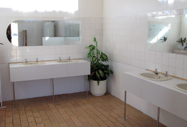 Inside the gents section. Spotless!