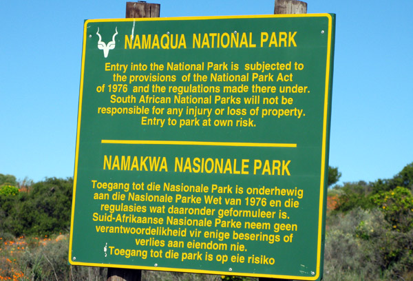 Welcome to Namaqua National Park.