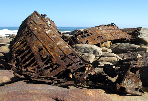 The wreck of the Aristea.