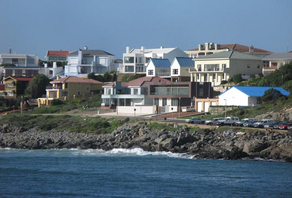 Some of the houses accross the bay in the older part of Yzerfontein.