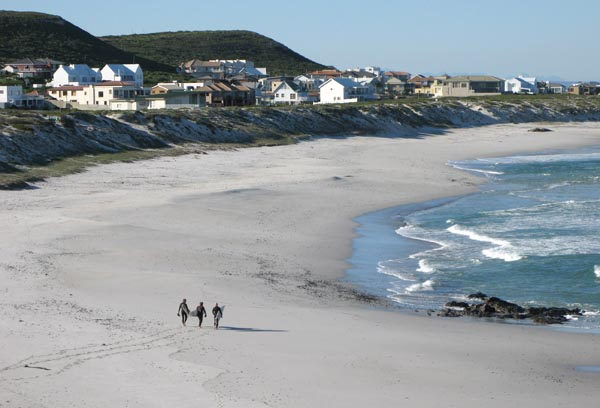 The beach at the newer part of Yzerfontein.