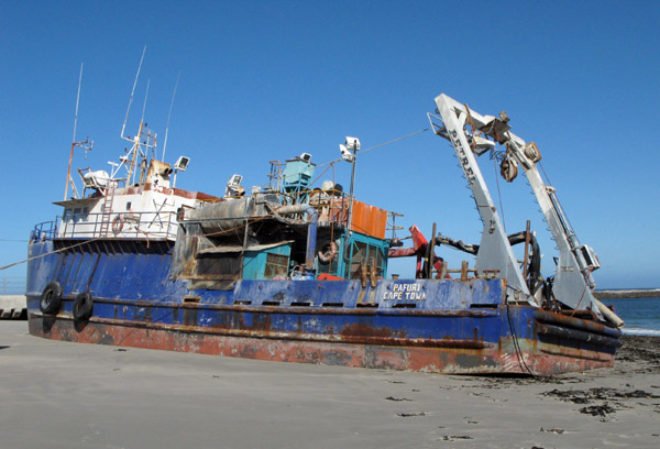 Ship wreck at Port Nolloth.