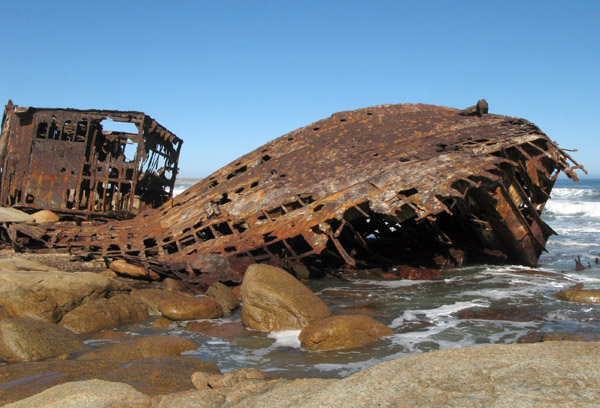 Ship wreck just south of Kleinzee.