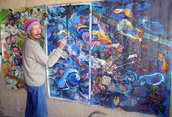 Artist Mel Burger.
