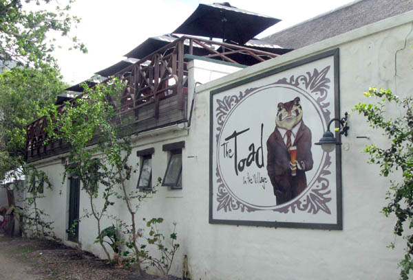 The Toad in the Village Restaurant.