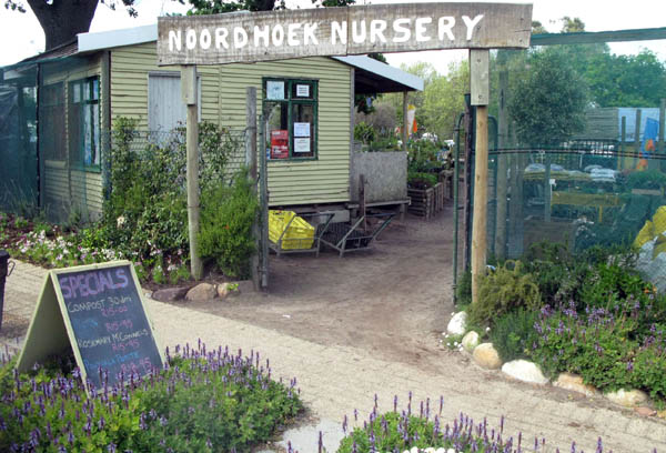 There is a nursery right next to the parking area.