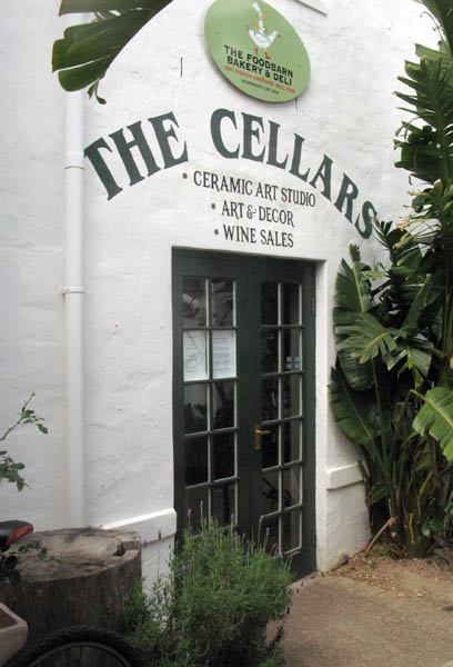 Entrance to the Cellars area.