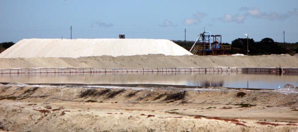 Velddrif also has salt pans and a processing factory right on the river.