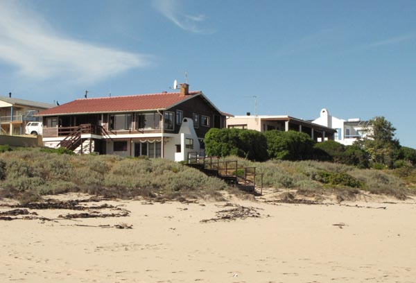 Beach front houses.