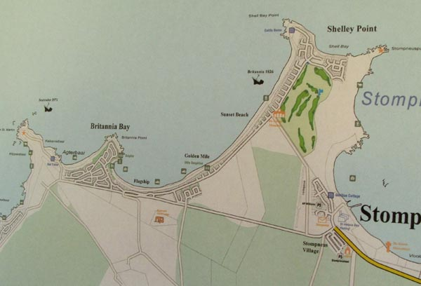 Map of Britannia Bay & Shelly Point.