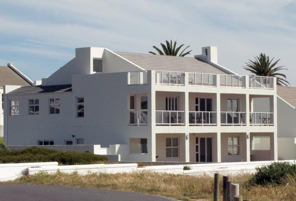Sea front house.