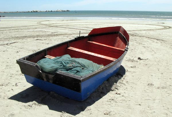 One of the fishing boats ready to take to the sea.