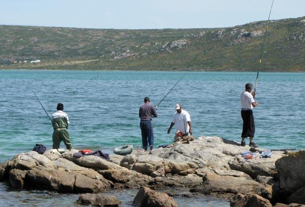 Fishing in the lagoon.