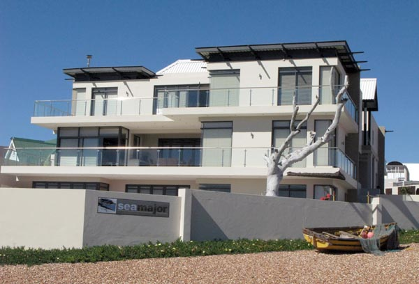 One of the newer houses overlooking the lagoon.