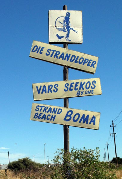 Signpost to The Strandlooper.