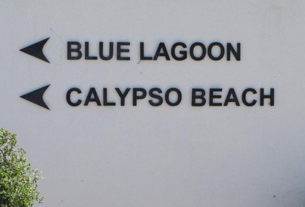 The next turn of takes you to the developments of Blue Lagoon and Calypso Beach.