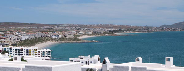 Looking back, with Mykonos in the foreground, at all the developments we have just had a look at.