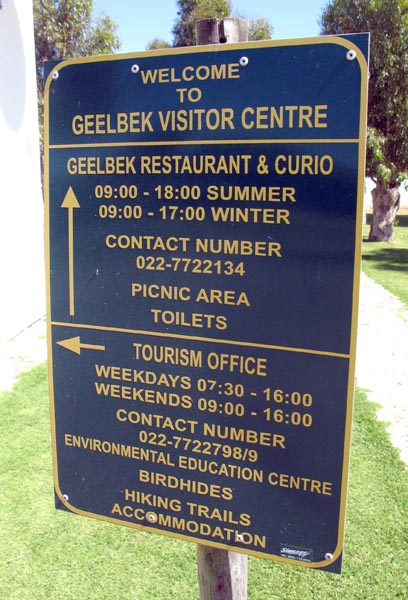 Geelbek Visitor Centre.