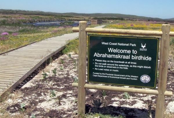 Abrahamskraal bird hide.