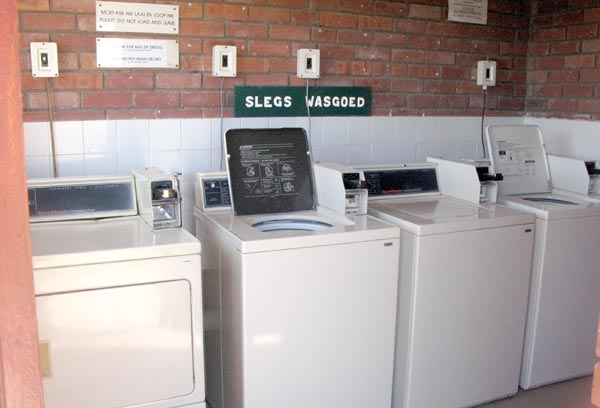 There are also washing machines and tumble dryers available.