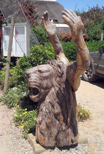 Carvings from trees.