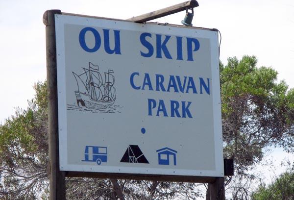 Ou Skip Caravan Park in Melkbosstrand.