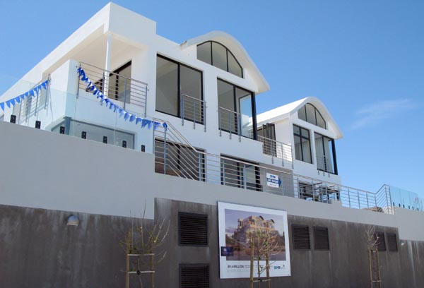 One of the developments next to the beach.