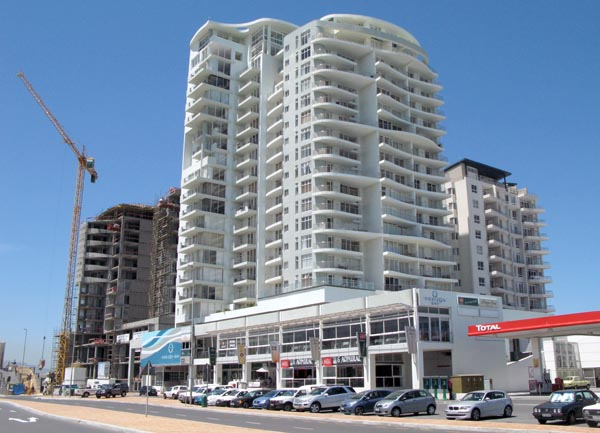 Some of the old and new developmets along the beach front.