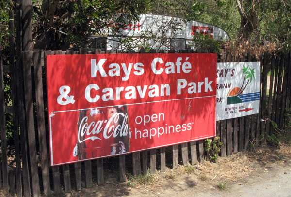 Entrance to Kay's Caravan Park.