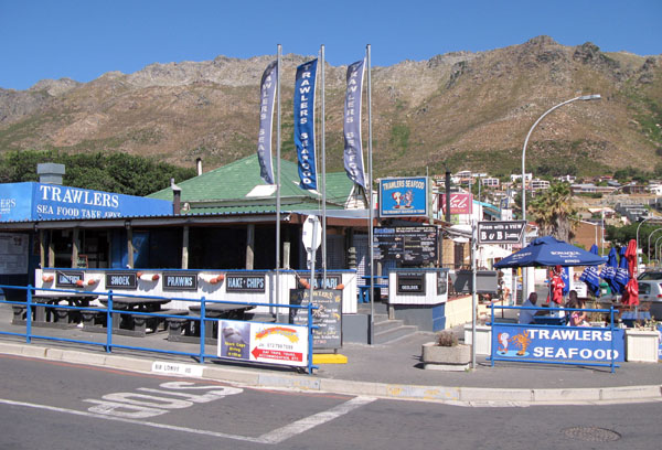 Trawlers Sea Food Restaurant int he centre of the village.