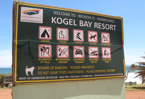 Kogel Bay Resort.