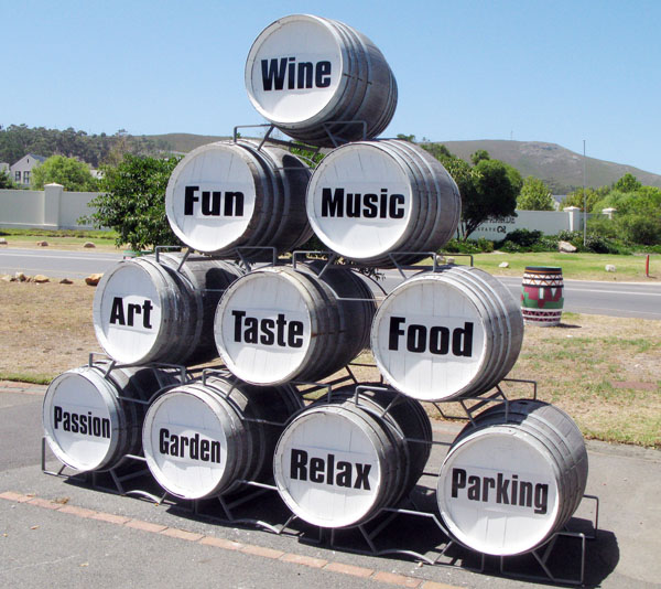 Intersting use of old wine barrels.