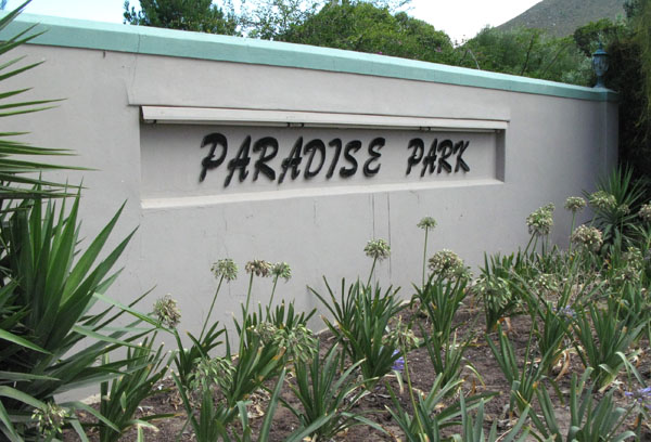 Paradise Park just off the R43 in Vermont about 10 km's from Hermanus
