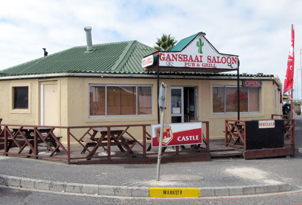 There are lots of restaurants and pubs in Gansbaai and of course the fish is really good.