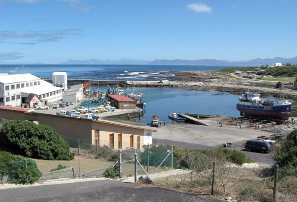 The old harbour and fish factories.