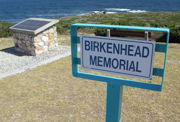 Birkenhead Memorial at Danger Point Lighthouse.