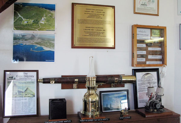 Display inside the lighthouse.